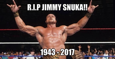 R.I.P Super Fly Jimmy Snuka !!!