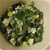 Purslane with blue cheese