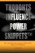 Thoughts Influence Power Snippets TR Johnson