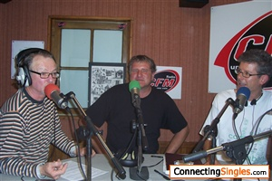 Me in the middle,2years ago on local radio