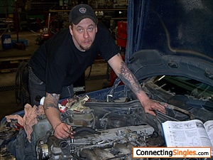 Working om my car some years ago