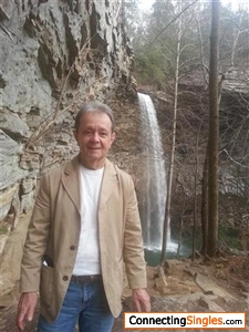 a waterfall near Crab Orchard Tennessee