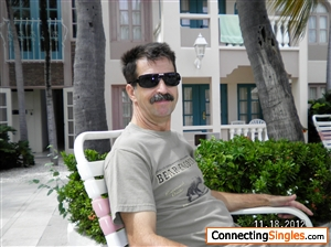 Sorry the photo is two years old, I shaved off the mustache. Relaxing in Aruba at the time.