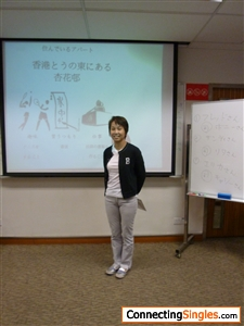 I am making a presentation in the Japanese class which I attend once a week for the past seven years ^o^
