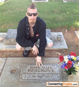 Me in CA At my fathers grave 7 17 2013