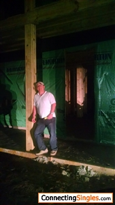 Me in the process of new house being built
