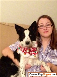 just me from earlier this year with my furbaby border collie named Seesha