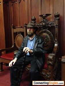 Sitting on the throne