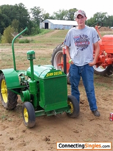 me at a tractor show