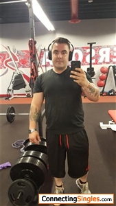 At the gym working on cutting some weight and building more muscle