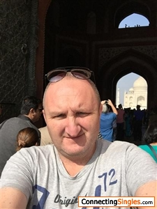 Wont let me brien the photo round but its me at the taj mahal
