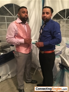 Me and my brother at a birthday party
