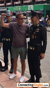 Me in Thailand getting arrested Not
