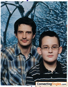 I look the same this is a old picture of me and my son