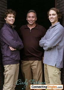 Me in the middle.  Made kids come hm from college to take pic