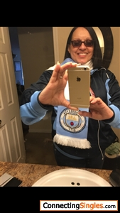 On my way to watch the game soccer I'm a big fan of Manchester City