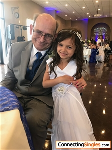 My granddaughter and I at my son's wedding 4/21/18