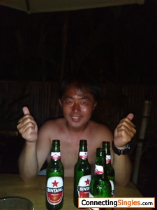 Beer after surfing