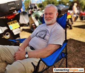 Relaxing at Bike Show
