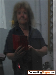 Feelin' bllllurry - this photo made me laugh because the doubled reflection gave me zombie eyes. Won't be up long.  Sept 2018