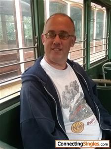 Sitting in a streetcar