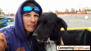 me and my puppy goin for a ride on the scrambler
