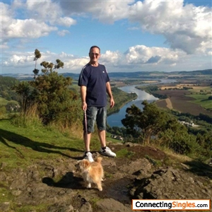 Me the Pooch doing some Scottish mountaineering