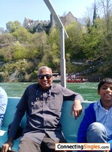 In Switzerland Rheinfall boat ride