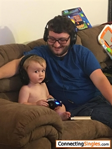 My nephew and I playing a game