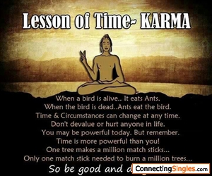 OUR KARMA OF PRESENTENCE WILL DECIDE OUR FUTURE LIFE DEATH