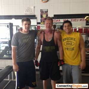 Me and nephews at the gym
