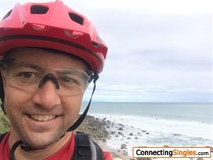 Mountain biking on west coast of South Island New Zealand