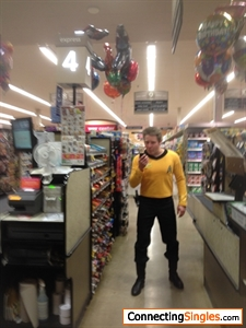At work on Halloween a couple of years ago