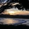 sun set in Omarau New Zealand