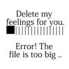 Deleting my feeling 4u!