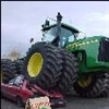 Tractor Crushes Car