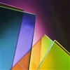 Coloured sheets of glass