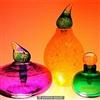Coloured perfume jars
