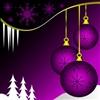 Purple coloured Christmas