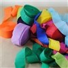 Coloured Crepe Streamers