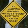 if a man speaks......