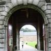 Castle entrance porch Alde Biezen.