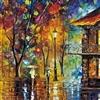 Painting Walk in Rain Night