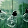 Rain water drop light bulb