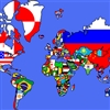World Map And Flags