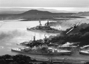 Day in Infamy. Dec 7 1941 Japanese Naval forces launch attacks on Pearl Harbour. Two attack waves totaling 353 aircraft including dive bombers, torpedo bombers, Zero fighter escorts and midget submarines attack Battleship Row destroying a total of eighteen ships most famous being Arizona. 2,386 Americans are killed. On Dec 2 the Japanese hierarchy gave the go ahead. What was the seceret call sign?