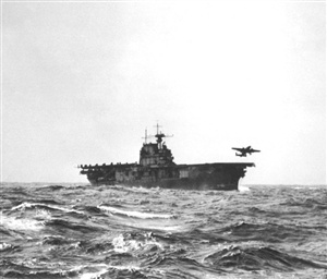 The U.S. retaliation to Japan's attack on Pearl Habour occurred on 18 April 1942. 16 modified B-25 bombers were launched from an aircraft carrier 650 nautical miles off the coast of Japan target being Tokyo. This mission was to increase American morale and to plant a psychological seed in the minds of the Japanese that they were not invincible. Name the carrier from which the bombers were launched?