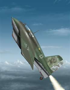 The Me 163 Komet was a revolutionary German aircraft design for it was a rocket powered fighter capable of reaching speeds over 700mph (1,171km/h). Limited to only 8mins of powered flight time its technique was to ascend to bomber formation altitude of 30,000ft and take out any enemy whilst making diving passes through the allied formations. How long did it take for the 163 to ascend to 30,000ft?
