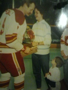 When I was a little boy and met Lanny where am I standing when I met him??