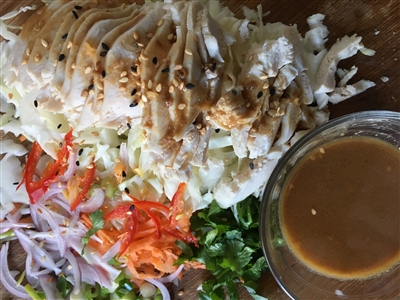 Chicken Slaw with Sesame sauce Recipe